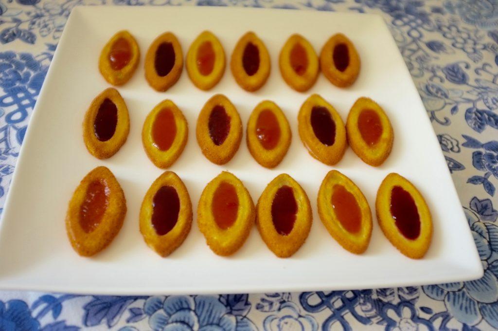Les biscuits sans gluten barquette à la confiture pour l'heure du goûter