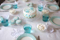 Gâteau sans gluten d'anniversaire Reine des Neiges