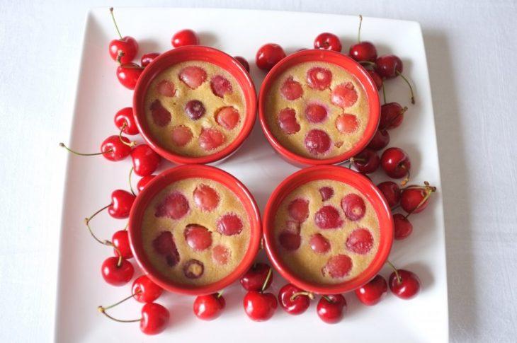 clafoutis cerise sans gluten au Vitaliseur