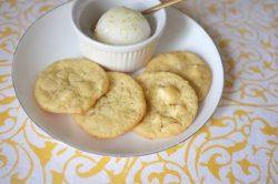 Mes cookies chocolat blanc et citron vert sans gluten