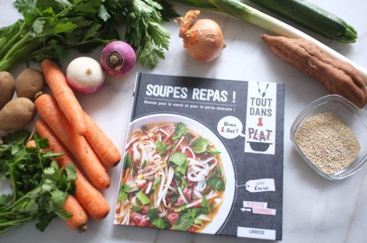 Le livre «Soupes repas» est ma bible cet hiver.