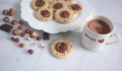 ma recette sans gluten de cookies éclats de noisette & nocciolata